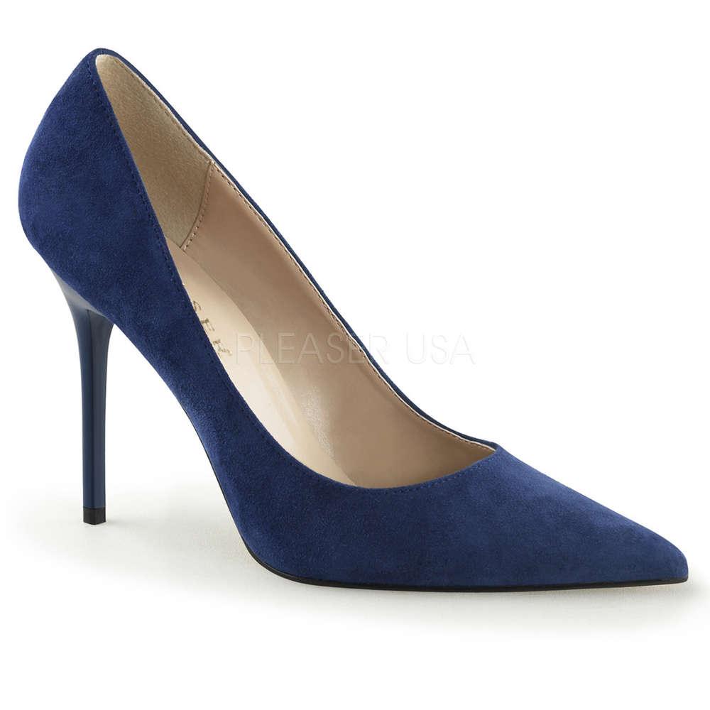 8834714264b099 High Heels CLASSIQUE Wildleder blau Pleaser